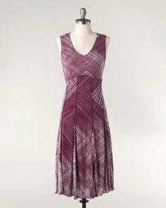 Checkmate mesh dress  Via coldwatercreek.com