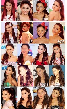 Hair transformation of Ariana Grande from 2011-2013 LOVE ALL HER HAIRSTYLES DONT LET ANYONE TELL YOU DIFFERENT ARIANA✋✨