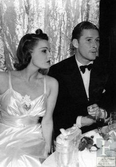 Lili Damita and Errol Flynn at Basil Rathbone's House (1941) - #ErrolFlynn (Forever Flynn)
