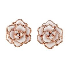 Rose Gold Flower Earrings ❤ liked on Polyvore featuring jewelry, earrings, earring jewelry, blossom jewelry, rose gold earrings, flower jewellery and rose gold jewelry