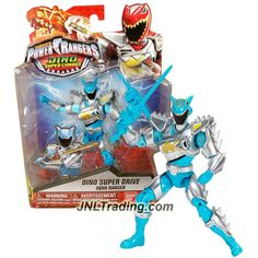 Bandai Year 2015 Saban's Power Rangers Dino Super Charge Series 5 Inch Tall Action Figure - Dino Super Drive AQUA RANGER with Sword
