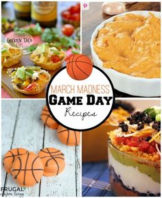 March Madness Party Ideas plus YUMMY March Madness Food – Slam Dunk Bites for Your Entire Team on Frugal Coupon Living. Very delicious roundup of Game Day Recipes.