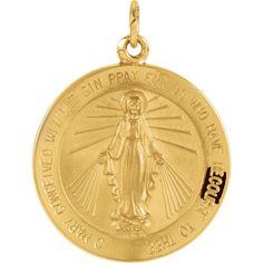 Yellow Gold 22 mm Miraculous Medal Fine Jewelry for Women Tiea Jewels Kids Gold Jewellery, Gold Jewelry For Sale, Buy Gold Jewellery Online, 24k Gold Jewelry, Urban Jewelry, Clean Gold Jewelry, Gold Jewellery Design, Quartz Jewelry, Jewelry Shop