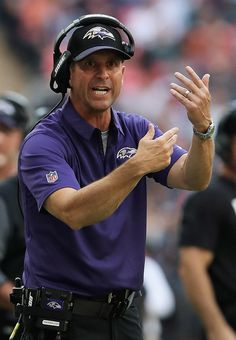 John Harbaugh Photos - John Harbaugh head coach of the Baltimore Ravens looks on during the NFL International Series match between Baltimore Ravens and Jacksonville Jaguars at Wembley Stadium on September 24, 2017 in London, England. - Baltimore Ravens v Jacksonville Jaguars