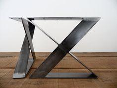 16 X-Frame Flat steel Table Legs Bench LegsHEIGHT 12 por Balasagun