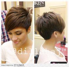 Fryzury  Brązowe włosy: Fryzury Krótkie Na co dzień Pro…