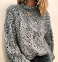 Ravelry: Elisabeth sweater pattern by Siv Kristin Olsen Knitting Kits, Sweater Knitting Patterns, Knitting Designs, Hand Knitting, Moda Crochet, Knit Crochet, Knit Fashion, Vogue Knitting, Cable Knit Sweaters