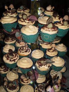 Woodland Theme Cupcakes by luv2decor8cakes, via Flickr