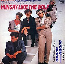 """For Sale - Duran Duran Hungry Like The Wolf - Staircase Sleeve Japan Promo  7"""" vinyl single (7 inch record) - See this and 250,000 other rare & vintage vinyl records, singles, LPs & CDs at http://eil.com"""