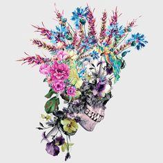 Canvas Art, Canvas Prints, Art Prints, Skull Wallpaper, Floral Skull, Anatomy Art, Anatomy Tattoo, Punk Art, 5d Diamond Painting