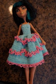 Monster High Crochet Dress pattern