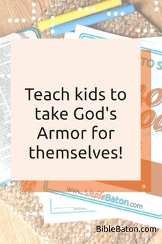 When you teach the Armor of God, you could potentially change your kids' lives forever. And this Leader's Guide will give you everything you need to do it: 6 printable lesson plans that are easy for you to teach; creative Intro Activities for each lesson, so you can catch your kids' interest right away; and review questions & Application Activities for each lesson. Perfect for Sunday School, children's ministry, or VBS! Click through for more info. Armor Of God, Bible Lessons, Sunday School, Teaching Kids, Ministry, Lesson Plans, You Changed, Printable, Activities