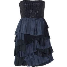 Alice + Olivia Apri beaded tiered silk-blend dress