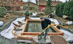 Bauanleitung: Schwimmteich selber bauen Natural Swimming Ponds, Swiming Pool, Water Features, Landscapes, Garage, Backyard, Outdoors, Gardening, Outdoor Decor
