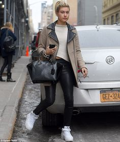 Single status: Hailey Baldwin was seen spending Valentine's Day alone in New York City on Saturday