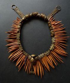 Clay Jewelry, Jewelry Art, Beaded Jewelry, Jewlery, Tribal Necklace, Tribal Jewelry, Witch Outfit, African Trade Beads, Necklace Types