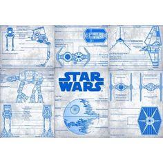 Star Wars Episode 7 Blueprint Design Licensed Fabric Chewbacca, Star Wars Episodes, Boba Fett, Princess Leia, Rebel, Darth Vader, Stars, Fabric, Prints
