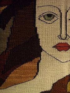 tapestry artist, tapestry weaver, Chrissie Freeth