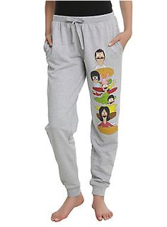 Licensed TV T Shirts & Accessories For Guys & Girls Burger Puns, Bobs Burgers Gifts, Bob's Burgers Merchandise, Belcher Family, Grey Bob, Girls Joggers, Bob S, Comfy Pants, Jogger Pants