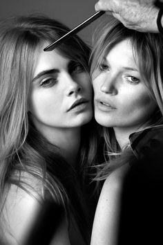 Cara Delevingne & Kate Moss - My Burberry Fragrance Ad Campaign (BTS) Photographed by: Mario Testino