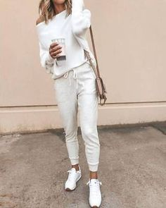 White One Shoulder Batwing Oversize Casual Ladies Off Shoulder Knit . - White One Shoulder Bat Sleeve Oversize Casual Ladies Off Shoulder Knit Sweater Fashion – Sweaters - Athleisure Outfits, Sporty Outfits, Mode Outfits, Winter Outfits, Fashion Outfits, Womens Fashion, Style Fashion, Ladies Fashion, Fashion Ideas