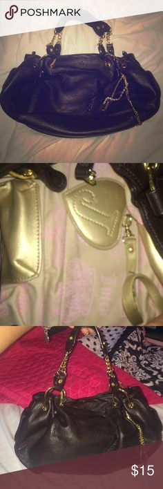 Juicy Couture Brown Leather Satchel Small Brown leather Juicy Couture satchel Juicy Couture Bags Satchels