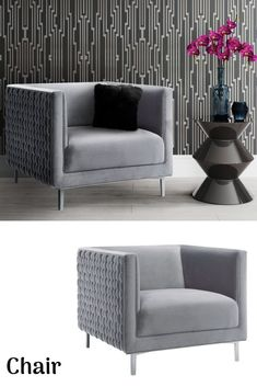 Shop TOV Furniture Sal Grey Woven Chair with great price, The Classy Home Furniture has the best selection of Chairs to choose from Dining Room Sets, Dining Room Chairs, Woven Chair, Rooms Home Decor, New Furniture, Modern Chairs, Mall, Love Seat, Classy