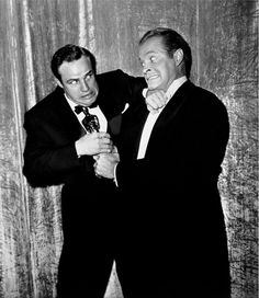 Bob Hope trying to steal Marlon Brando's newly acquired Oscar