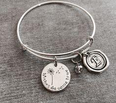 Wishes do come true, wish Bracelet, dandelion Bracelet, wishes, IVF, Baby Adoption, Silver Bracelet, Charm Bracelet, I wished for you, Gifts by SAjolie, $18.95 USD