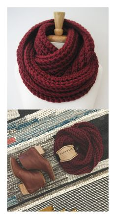 CROCHET INFINITY SCARF, Knit Eternity Scarf, Chunky Ribbed Scarf, Double Wrap Scarf, Winter - Burgundy  https://www.etsy.com/listing/197979295/crochet-infinity-scarf-knit-eternity?ref=shop_home_feat_2