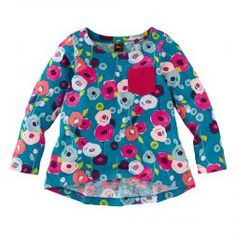 Floral Cotton Long-Sleeved Girls Shirt | Tea Collection