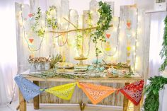Sweet Table from a Moonrise Kingdom Camping Birthday Party via Kara's Party Ideas | KarasPartyIdeas.com (39)