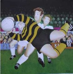 Granny the Footballer by Beryl Cook. I want to be this Granny!