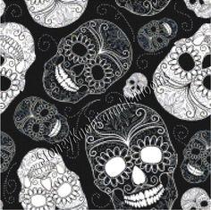 Day of the Dead Skulls Art Pattern ~ Counted Cross Stitch Pattern Chart #StoneyKnobFarmHeirlooms #CountedCrossStitch