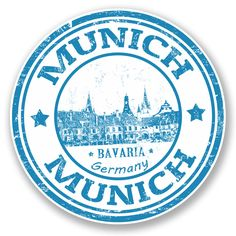 2 x Munich Germany Bavaria Vinyl Sticker Decal Laptop Travel Luggage Car iPad Sign Fun A simple 'Peel and Stick' sticker, ideal for iPads, Laptops etc. Luggage Stickers, Laptop Stickers, Travel Stamp, Passport Stamps, Logos, Custom Stamps, Window Stickers, Tampons, Arts And Crafts Supplies