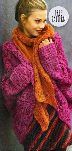 2e219e1805bb6c Cardigan Model Free Pattern Diy Crochet Patterns