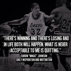 Don't quit no matter what.