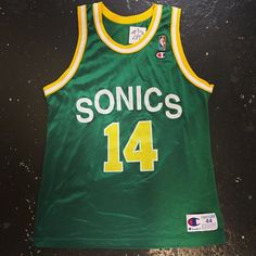 Vintage Sonics Sam Perkins jersey in our SF shop