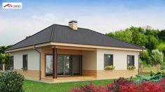 Z24 to wyjątkowy dom z kategorii projekty domów jednorodzinnych Log Cabin Living, Roof Trusses, Bungalow House Design, Dream House Plans, Space Saving, Tiny House, Gazebo, Shed, Villa