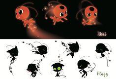 2D Plagg and Tikki development, Miraculous Ladybug Art Book