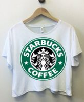 This starbucks cropped top looks really cool