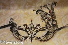 Gorgeous Black Butterfly Princess Metal Venetian by 4everstore...always wanted to go to a masqerade ball