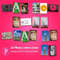 Photo Alphabet - OK For Commercial Use. Photos representing the different letters of the alphabet. Fun for a variety of resources.