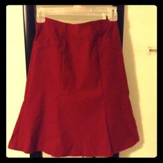 "Selling this ""Red Fishtail Skirt"" in my Poshmark closet! My username is: melissanbravo. #shopmycloset #poshmark #fashion #shopping #style #forsale #Dresses & Skirts"