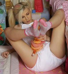 Adult pantie plastic wearing