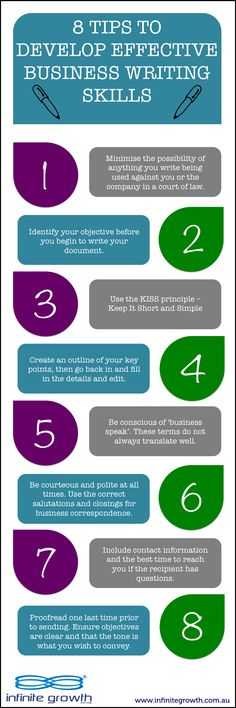 [INFOGRAPHIC] 8 Tips to Develop Effective Business Writing Skills