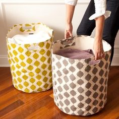 Hamper Baskets + Bins: 25 Stylish Ways to Organize 10 Awesome Ideas for Tiny Laundry Spaces 15 Toys You Can Make with Cardboard Sedona Grey Hamper Build a Diy Love, Diy Cutting Board, Laundry Hamper, Laundry Room, Fabric Storage, Toy Storage, Getting Organized, Home Organization, Home Accessories