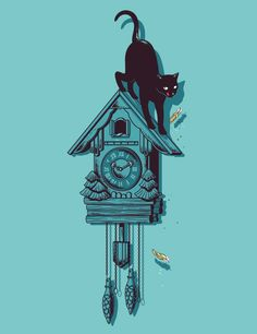 This one is for anyone whose young nerves were put on edge by the mass amounts of Coo Coo Clocks in your Grandmother's House!     ~The Priceless and Hilarious Illustrations of Chow Hon Lam