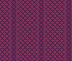 african_blockprints rose - glimmericks - Spoonflower