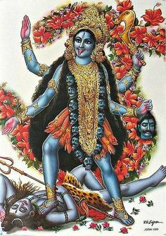 Kali - Hindu Posters (Reprint on Paper - Unframed) Maa Kali Images, Durga Images, Kali Mata, Kali Hindu, Hindu Art, Indian Goddess, Goddess Lakshmi, Goddess Art, Mother Kali